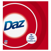 Daz Regular Washing Laundry Powder Cleaning Whitening Detergent, 1.4kg 22 Washes