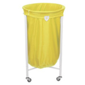 Stafford Round Laundry Trolley With Yellow Bag