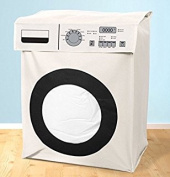 White Novelty Washing Machine Large Laundry Bin Basket Hamper Bag Laundry Tidy