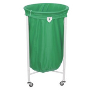 Stafford Round Laundry Trolley With Green Bag