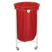 Stafford Round Laundry Trolley With Red Bag