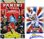 2017 Panini NFL Football EXCLUSIVE Factory Sealed Retail Box with AUTOGRAPH or MEMORABILIA Card & ROOKIE & INSERT in EVERY PACK! Plus Special BONUS 2017 Christian McCaffrey ROOKIE Card! WOWZZER!