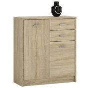 Furniture To Go 4 You 2-door 2-drawer Cupboard With Melamine, 74 X 86 X 35 Cm,