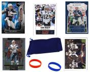 Tom Brady (5) Assorted Football Cards Bundle - New England Patriots Trading Cards