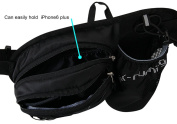 WATERFLY Hiking Waist Bag Can Hold iPhone6 Plus 14cm Gear with Water Bottle Holder / Funny Running Belt Bum Bag for Ridding Dog Walking