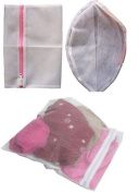 New 3pc Intimates Clothes Washing Laundry Bag Net Mesh Zipper Bag