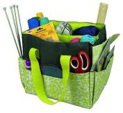 Kleiber Hand Work Bag, 100 % Polyester, Kiwi / Grau, 34 X 29 X 25 Cm