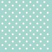 """Duck Egg Blue White Polka Dot 3-ply 20 Paper Napkins Serviettes 13x13"""" - 33x33cm"""