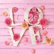 """Love Pink Floral 3-ply 20 Paper Napkins Serviettes 13"""" X 13"""" - 33 X 33cm"""