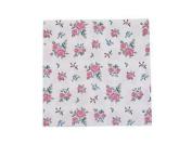 Rose Leaf Flower Pink Green Blue 3-ply 20 Paper Napkins Serviettes 33cm X 33cm