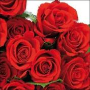 "Red Roses Floral 3-ply 20 Paper Napkins Serviettes 13"" X 13"" - 33 X 33cm"