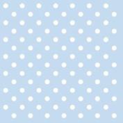 """Blue White Polka Dot 3-ply 20 Paper Napkins Serviettes 13"""" X 13"""" - 33 X 33cm"""