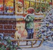 "Christmas Child Toy Shop Green 3-ply 20 Paper Napkins Serviettes 13""x13""-33x33c"