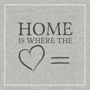 "Home Heart Grey Black 3-ply 20 Paper Napkins Serviettes 13""x13""-33x33c"