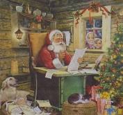 """Christmas Santa Mail Red White 3-ply 20 Paper Napkins Serviettes 13""""x13""""-33x33c"""