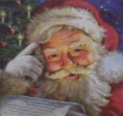 "Christmas Santa Tree Red White 3-ply 20 Paper Napkins Serviettes 13""x13""-33x33c"