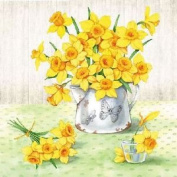 """Daffodils Floral Spring 3-ply 20 Paper Napkins Serviettes 13"""" X 13"""" - 33 X 33cm"""