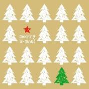 "Christmas Trees Merry Xmas Gold 3-ply 20 Paper Napkins Serviettes13""x"