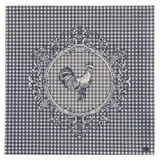 """Gingham Blue White Rooster 3-ply 20 Paper Napkins Serviettes 13""""x13"""" - 30x30cm"""
