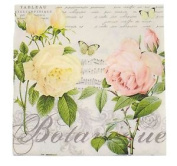 """French-style Floral Roses Pink 3-ply 20 Paper Napkins Serviettes 13""""x13""""-33x33c"""