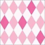 "Harlequin Diamond Pink 3-ply 20 Paper Napkins Serviettes 13"" X 13"" - 33 X 33cm"