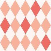"Harlequin Diamond Peach 3-ply 20 Paper Napkins Serviettes 13"" X 13"" - 33 X 33cm"