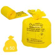 Yellow Clinical Waste Bags - Medium Duty 30l, 5kgs