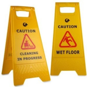 """a"" Frame Wet Floor & Cleaning In Progress Warning Hazard Sign"