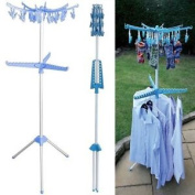 New Foldable Multi Clothes Hanger Garment Laundry Airer Dryer Washing Line Horse