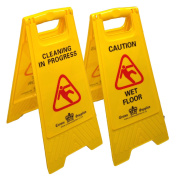 Crown Supplies Wet Floor Sign 62x30cm