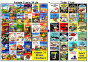 Asterix 34 Books + Tintin 23 Graphic Books - Brand New Collection -Big Size PBs