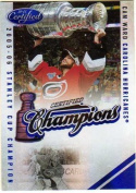 2010-11 Certified Champions Mirror Blue #15 Cam Ward Serial #69/100 - Hurricanes