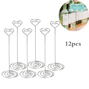 12x Table Number Name Place Card Holder Stand Photo Note Memo Clip Wedding Favour