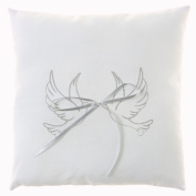 Wedding Ring Cushion With Dove Design In White