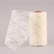 Lace Mesh - Ivory - 15cm X 10m Wedding Party Event Table Cake Decoration