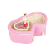 EULAGPRE Romantic Tao Heart Music Box Mini Bed Holds Clockwork Jewellery Music Box Storage Present Home Decoration Gifts