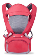 OGTOP Triple Double Shoulder Multi-functional Breathable Baby Strap Lap,Red