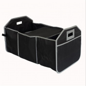 WJJ-Car Trunk Organiser Cooler Storage for Auto Front & Back Seat, Collapsible - Hold Vehicle Cargo Secure and Prevent Sliding - Toy, Grocery, or Office Automotive Carrier Tote
