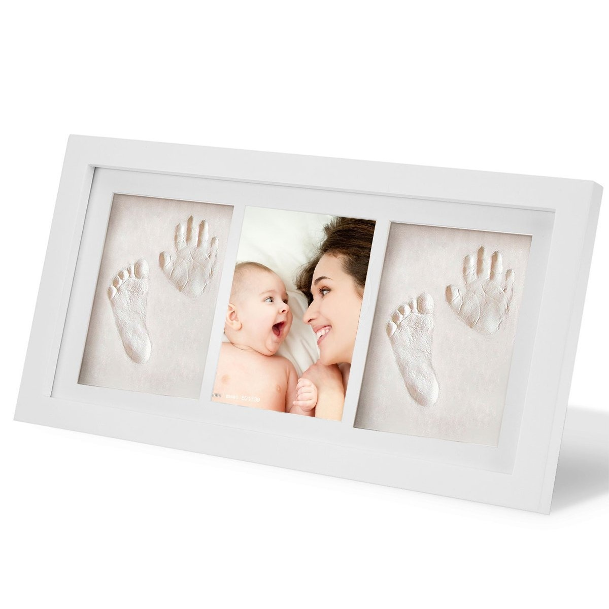 Cusfull Baby Handprint and Footprint Photo Frame kit Unique Baby ...
