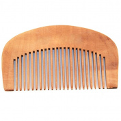 ALCYONEUS Natural Peach Wood Comb Hair Health Care Close Teeth Anti-Static Head Massage