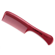 Hercules Sägemann Triumph Master Handle Comb with coarse teeth | Red - Made in Germany