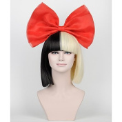 MZP Red bow sia wig big bow accessories(No wigs included) , ruby