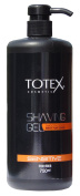 NEW Totex Shaving Gel Smooth Effect Sensitive 750ml with Pump For Easy Use
