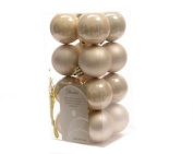 16 X Ivory Beautiful Pearl Shatterproof Christmas Tree Baubles Decorations