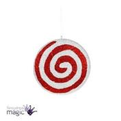 *festive Red White Hanging Christmas Acrylic Glitter Xmas Tree Candy Decoration*
