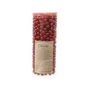 10 Metre Red Garland Christmas Xmas Tree Beads Shiny Decoration Shatterproof