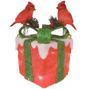 Red Robin Box Christmas Xmas Indoor Home Office Display Ornament Decoration