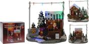 Christmas Village Shop Scene Led Multi Colour Lights Xmas Decoration