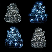 Christmas 20 Led Snowman Light - Indoor Xmas Mains Powered Wall Decoration