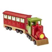 *wooden Advent Calendar Steam Train Snowman Christmas Countdown Decoration